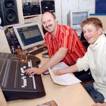 09.02.2005 Aufnahme im Studi (Neuzeug) mit Lieblingstechniker Fredi