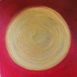 Meditation in rot 100x100 cm