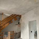 Abscheren, verputzen, schlämmen und Kalktünchen im Vogtturm in Zell am See_2020