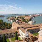 鐘楼からの眺め。ヴェネツィアが一望出来ます。