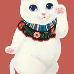 招き猫白猫