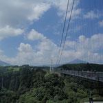 日本一の吊橋。