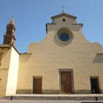 basilica di santo spirito。ここにはFilippino Lippiの作品があります。