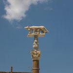 Siena建国に深く関わる「ロムルスとレムス」の像