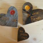 Kerzen-Herzen mit Teelicht und Gravur