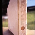 Sammelordner aus Holz mit Gravur