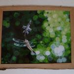 Holzbilderrahmen aus Kirschholz, teils mit Rinde
