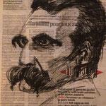 Friedrich Nietzsche - Fusain - Commande Dernière Leçon