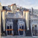Hiver à l'étoile - 2013 - Huile sur toile, 50x60 cm - Prix René Beja décerné par la Fondation Taylor- Exposé au Salon d'Automne
