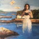 Le souffle de la poésie - 2015 - 150x150 cm - Cora et l'île tristan