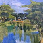 Bois de Boulogne - 2014 - Huile sur toile 23x35 cm