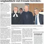 Sarganser Predigt Bericht (Rheinzeitung vom 10. September)