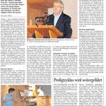 Sarganser Predigt Bericht (Sarganserländer vom 16. September)