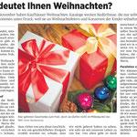 Weihnachtsgedanken (Rheinzeitung)