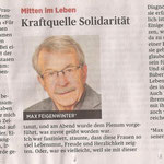 Kraftquelle Solidarität (Kolumne vom 24. September)