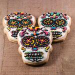 Halloween schedel koekjes