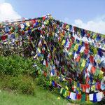Gebets-Fahne, eigenhändig signiert in Nepal