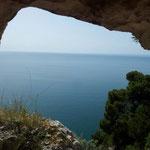 """aus der """"Tombe"""" am Monte Saraceno"""