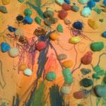 sichtbare bunte Pranakügelchen,gemalt von Raphaela 3Jahre
