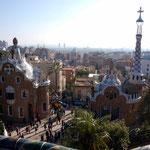 Blick auf Barcelona vom Parc Güel
