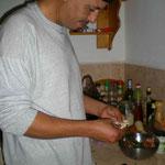 Hassan macht Fischtajine