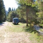 Lagerplatz in Sloweniens Norden