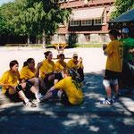 Partille-Cup 2001: Nadja, Sonja, Andrea, Nathalie, Jeannine, Tamara, Noëmie, Mexe, Britta