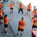 Partille-Cup 2005: seriöses Aufwärmen2 trotz Hitze...