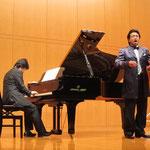 青戸知先生(バリトン)、鳥井俊之先生(ピアノ)によるシューベルトの歌唱