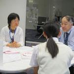 左:廣川恵理先生(音楽療法コース)、右:音楽総合学科長 原沢康明先生(音楽療法コース)