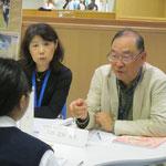 演奏学科長・八杉忠利先生(作曲コース)と佐藤鈴子先生(器楽コース・ピアノ)