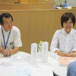 髙松晃子先生と八木正一先生(いずれも音楽教員養成コース)