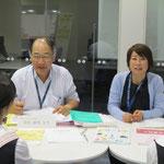 音楽総合学科長・原沢康明先生と古平孝子先生(いずれも音楽療法コース)