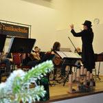 Unterhaltungsprogramm durch das Gitarren- und Flötenorchester Groß Laasch,Weihnachtsfeier, Gemeinde und VS, Verein Groß Laasch Flexibel, Foto Andrea Weinke