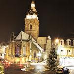place de la république et l'église décembre 2011