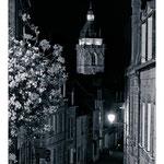 Rue pietonne et l'église aout 2013