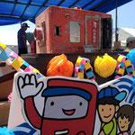南三陸町歌津のポスト(ポスト祭りより)手前のキャラクターポストくんをデザインしました。