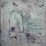 Thema Schutz des Zarten: GEBORGEN 60x50x4cm on canvas, 2020