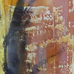 Transluzente Malerei auf Schleiernessel 120*50 2016