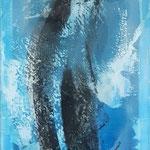 -16- Transluzente Malerei auf Schleiernessel  120*50 2016