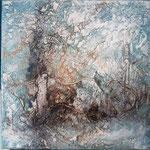 Going in circles 60x60x3,5 cm, auf Holz, 2020