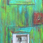 Alte Tür 130*60 auf Holz 2015