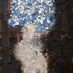 -56- Mosaik nach Palau Güell, 340*20*3,5 Holz, 2019