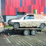 Showmobil - unser Steinauto (Geopietra Kunststeine)