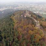 Vue aérienne du Chateau du Haut-Barr