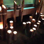 住民手造りの竹灯篭