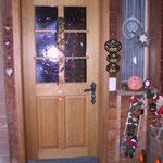 Haustüre massiv UV-und Wetterschutz behandelt