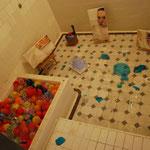 catharsis/川越市内にある旧山崎家別邸の脱衣所、お風呂場にて展示したインスタレーション