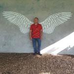 Ich schwinge mit Flügeln zum Himmel