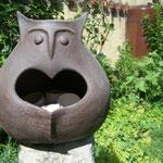 Mutter der Eulen, gebr. Ton, 2006, 38 cm